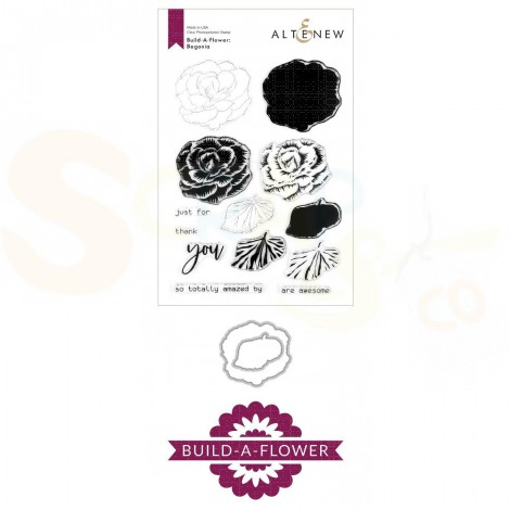 Altenew, build-a-flower Begonia (stempel + stans) ALT3998