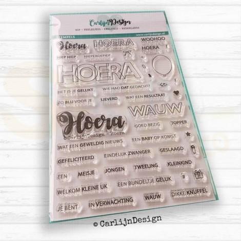 Carlijn Design, clearstamp CDST-0002, Hoera
