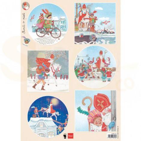 EWK1281, Marianne Design, decoupage vel Sint en Piet