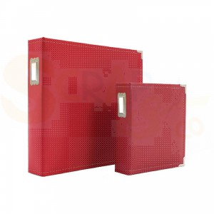 Sn@p, leather binder, rood,  6x8 inch