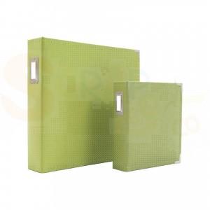 Sn@p, leather binder, groen 6x8 inch