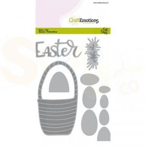 115633/0527 CraftEmotions stans, Easter - paasmand met eieren