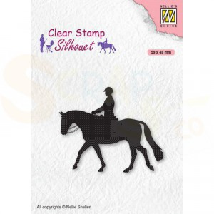 Nellie's Choice, clearstamp Silhouette, Ruiter SIL068
