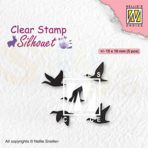 Nellie's Choice, clearstamp Silhouette, Vogels SIL081