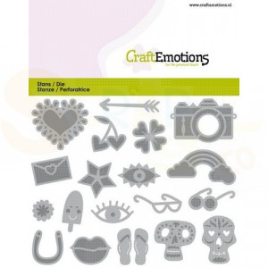 115633/08136 CraftEmotions stans, Trendy Booklet decorations