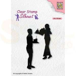 Nellie's Choice, clearstamp Silhouette, Teenagers - Snacks SIL089