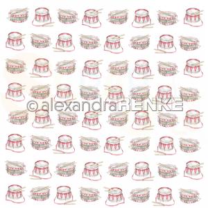 Alexandra Renke, designpapier 10.1503, Christmas Kids Drums