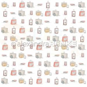 Alexandra Renke, designpapier 10.2220, Shoppingbags pattern