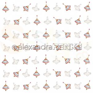 Alexandra Renke, designpapier 10.1509, Christmas Kids Spinning top