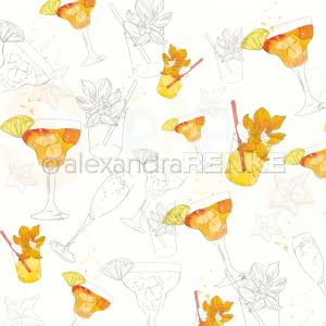Alexandra Renke, designpapier 10.1863, Fizzy orange margarita