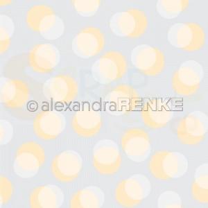 Alexandra Renke, designpapier 10.1875, Bokeh circles pastel yellow, dove blue