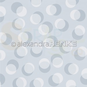 Alexandra Renke, designpapier 10.1882 Bokeh circles pastel dove blue