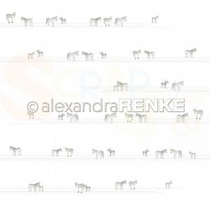 Alexandra Renke, designpapier 10.1897, Donkey on lines