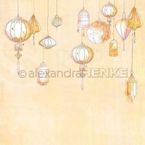 Alexandra Renke, designpapier 10.1924, Lampions Pastel Yellow
