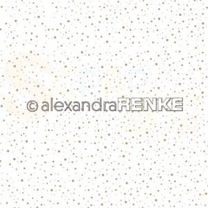 Alexandra Renke, designpapier 10.2009, Snow flurry gold on white