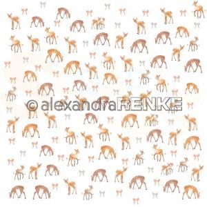 Alexandra Renke, designpapier 10.2017, Floral Christmas deer rapport