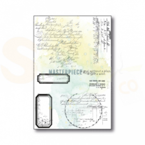 Masterpiece Design, clearstamp 1022, Curvy Letters