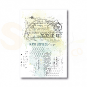 Masterpiece Design, clearstamp 1023, Grungy Rulers