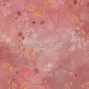 Alexandra Renke, designpapier 10.2382, Acorns and leaves on watercolor