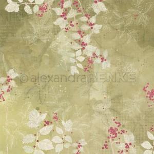 Alexandra Renke, designpapier 10.2386, Ilex on watercolor