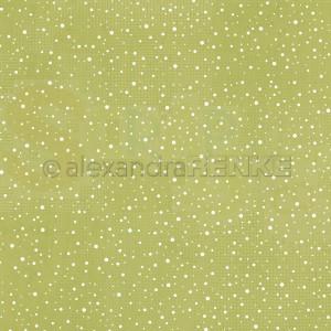 Alexandra Renke, designpapier 10.2415, Snow flurry lime green