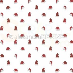 Alexandra Renke, designpapier 10.2443, Christmas hat rapport