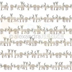 Alexandra Renke, designpapier 10.2448, Reindeer in a row