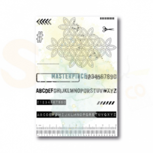 Masterpiece Design, clearstamp 1029, Grungy Flowers