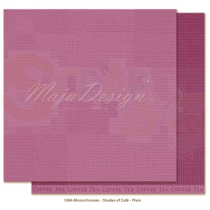 Maja Design, Little Street Cafe monochromes1084, plum