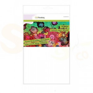 CraftEmotions YUPO paper 200 gr, wit 10 vellen 001286/3200