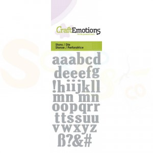 115633/0164 stans CraftEmotions, alfabet kleine letters