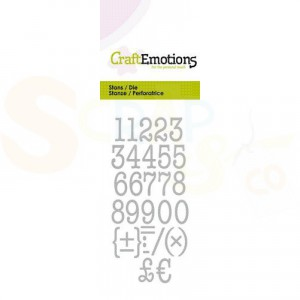 115633/0263, CraftEmotions stans, alfabet typewriter cijfers