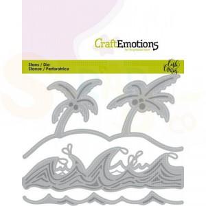 115633/0436 stans CraftEmotions, Ocean - palmen strans golven