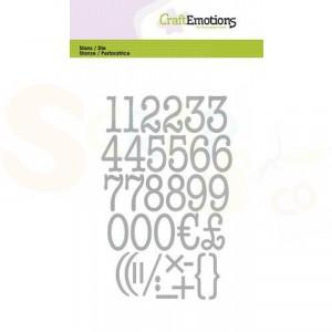 115633/0526, CraftEmotions stans, alfabet typewriter cijfers
