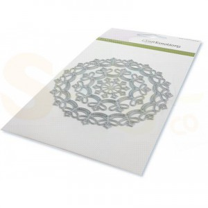 115633/0530 stans CraftEmotions, border rond Magic Flower