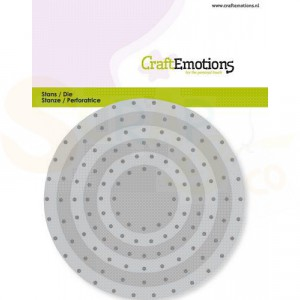 115633/0831 CraftEmotions stans, vintage cirkels klinknagels