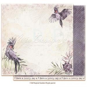 Maja Design, Tropical Garden 1158, Purple parrot