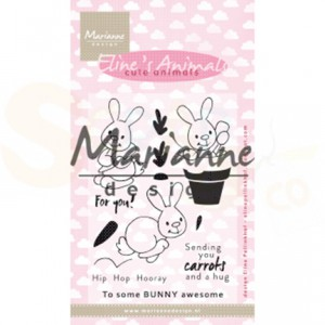 EC0178, Marianne Design, Clear stamp, Eline's cute animals - bunnies