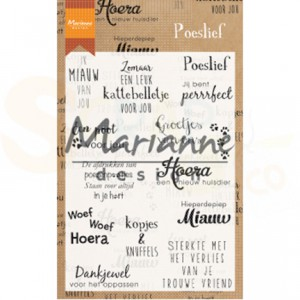CS1023, Marianne Design, Clear Stamp, poeslief (teksten)