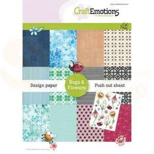 CraftEmotion s Design Paper A5 Bugs & Flowers  118040/1001