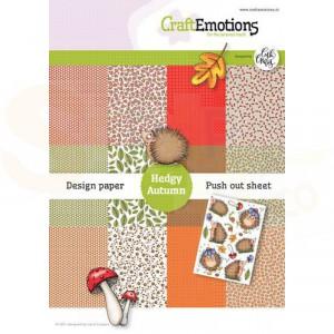 CraftEmotions, papierpakket Hedgy Autumn, 118040/1002