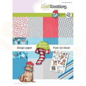 CraftEmotions, papierpakket Arctic Winter, 118040/1003