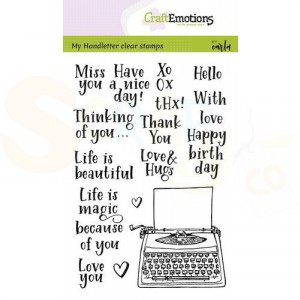 130501/1820, CraftEmotions clearstamp, Typewriter quotes