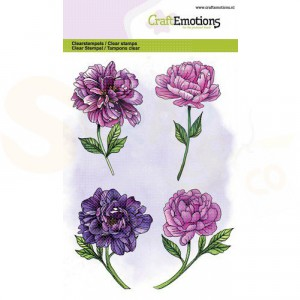 130501/1325, CraftEmotions clearstamp, Pioenroos 4 bloemen