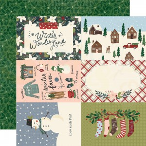 Simple Stories, Winter Cottage WC012 13913, 4x6 elements