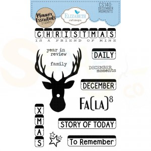 Elizabeth Craft Designs, clearstamp CS140, December Moments