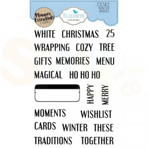 Elizabeth Craft Designs, clearstamp CS142, Winter Words
