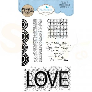 Elizabeth Craft Designs, clearstamp CS147, Background 3