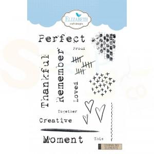 Elizabeth Craft Designs, clearstamp CS156, Journaling Elements