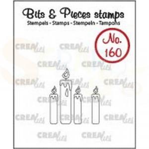 CLBP160 clearstamp bits&pieces no.160 Kaarsjes omlijning